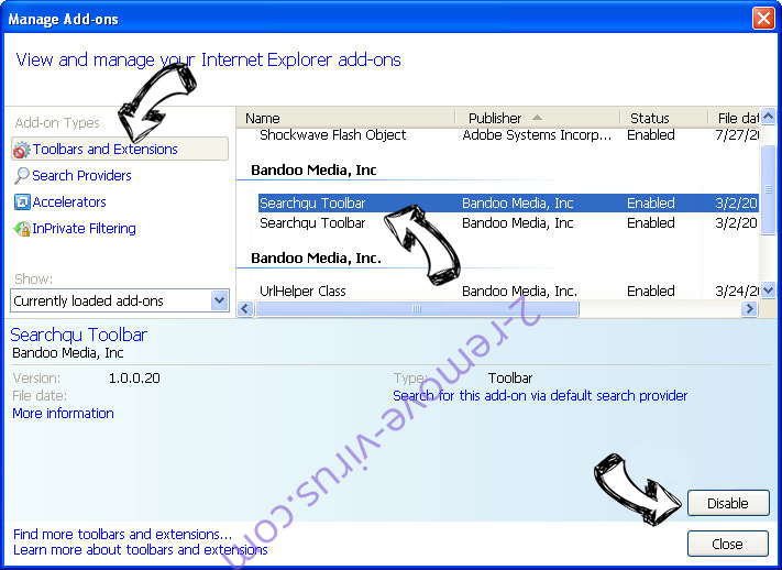 Haccessonlineforms.com IE toolbars and extensions