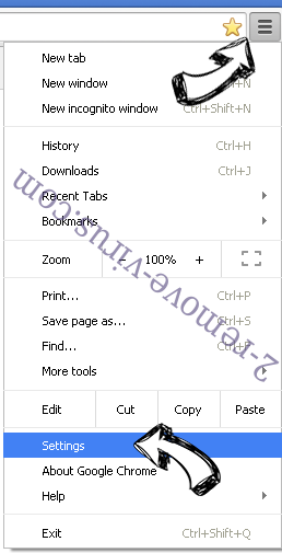 Tutorlalspoint.com Chrome menu