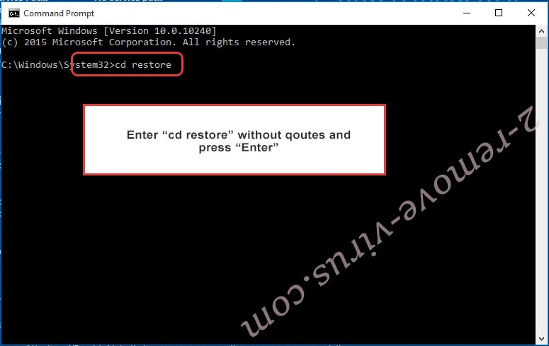 Uninstall Payransom500 Ransomware - command prompt restore
