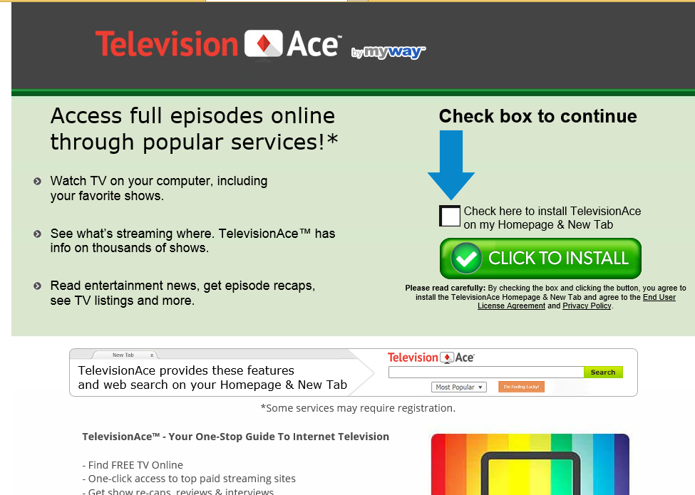 Television Ace Toolbar