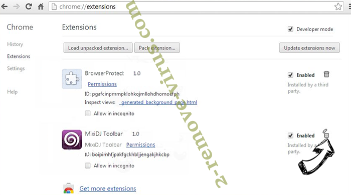 HowToBleases.xyz Chrome extensions remove