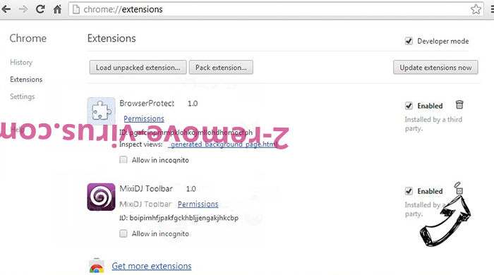 QuickSearch virus Chrome extensions remove