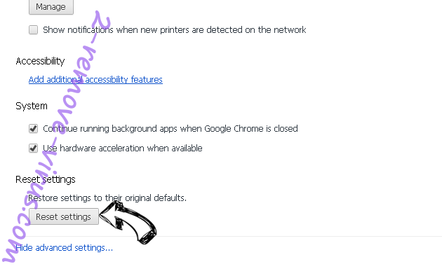 Plus Network Chrome advanced menu
