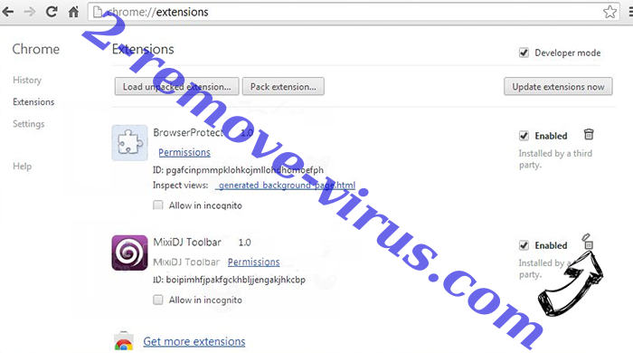 MySearchency.com Chrome extensions remove