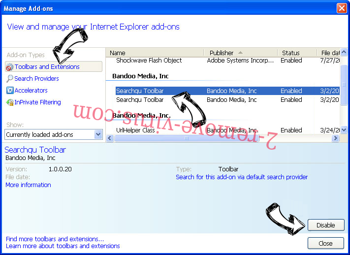 ConvertMyFile Search IE toolbars and extensions