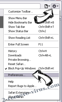 Hanstrackr Safari menu
