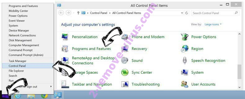 Delete EdocTransfer virus from Windows 8