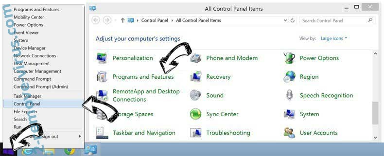 Delete ConvertMyFile Search from Windows 8