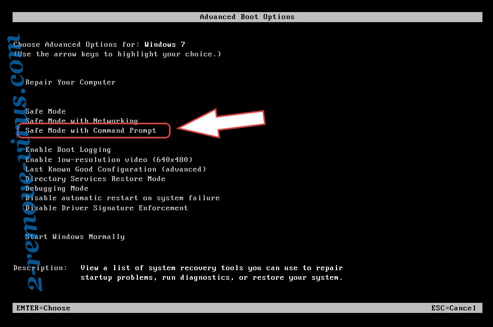 Remove .poolezoor Virus - boot options