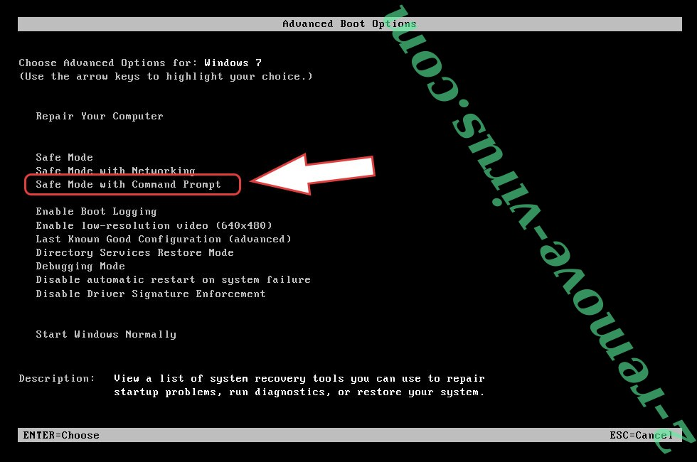 Remove rx99 extension ransomware virus - boot options
