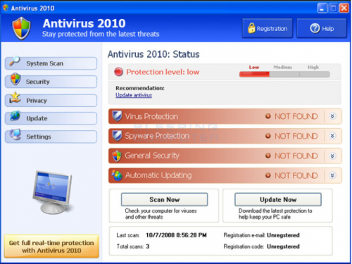 Antivirus 10 fjerning