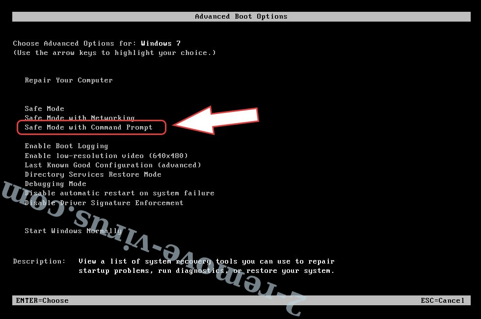 Remove .sivo files ransomware - boot options