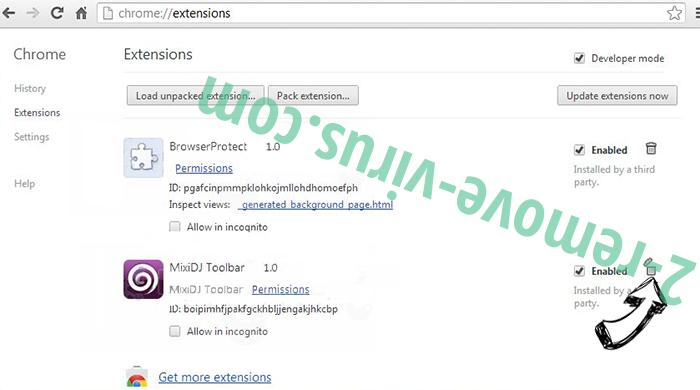 Monconvertisseur.com Chrome extensions remove