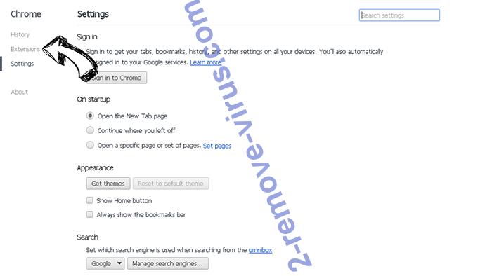 Monconvertisseur.com Chrome settings