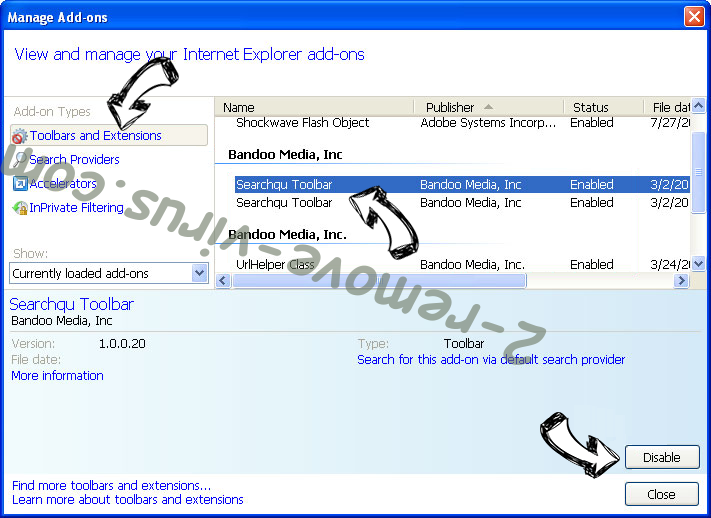 Seemoviesonline.stream IE toolbars and extensions
