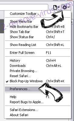 Managed by your organization Safari menu