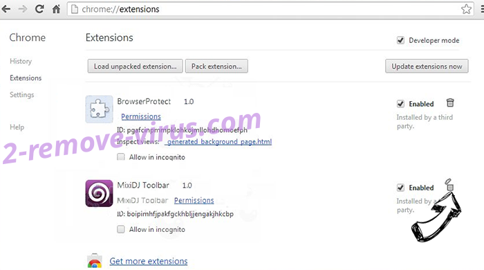 Remove ThreadProperty Chrome extensions remove