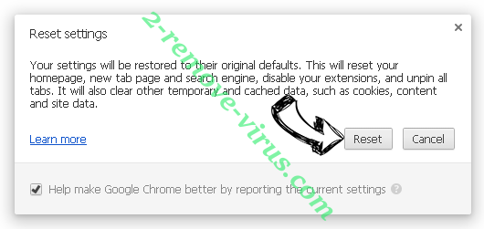 Encountryf.pro pop-ups Chrome reset