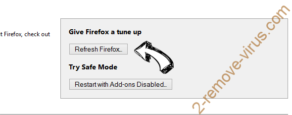 Encountryf.pro pop-ups Firefox reset