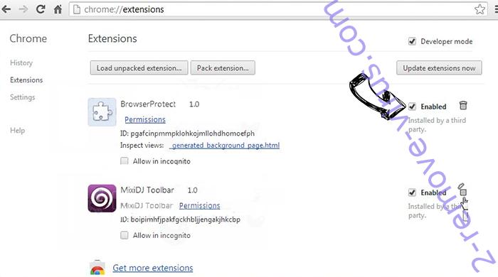 Luckyforbet.com Chrome extensions disable