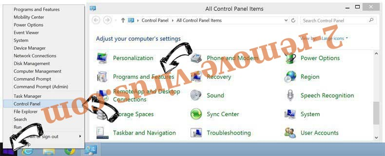 Delete Monconvertisseur.com from Windows 8