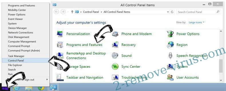 Delete Encountryf.pro pop-ups from Windows 8