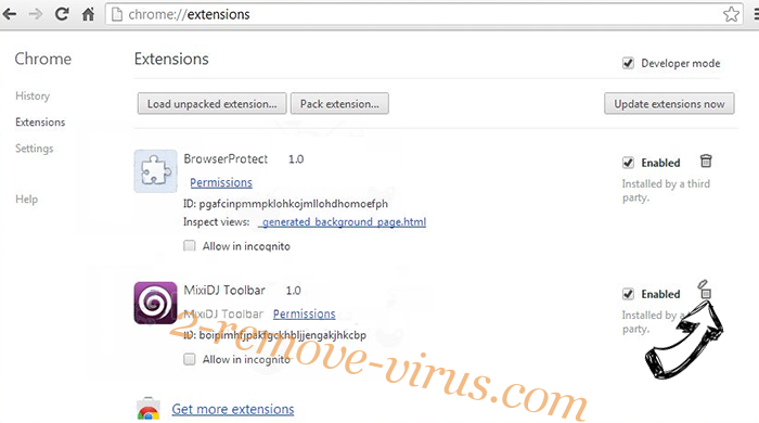 Cultsearch.pw Redirect MAC Chrome extensions remove