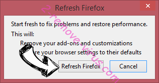 SecureDossier Unwanted Application Firefox reset confirm