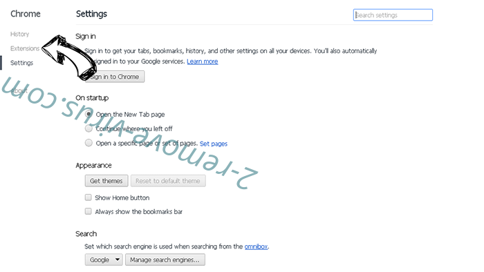 Yahoo Toolbar virus  Chrome settings