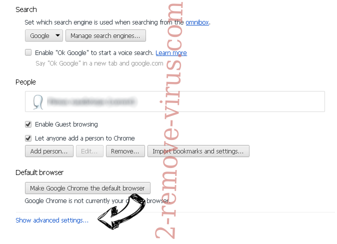 Moffreelance.biz pop-up ads Chrome settings more