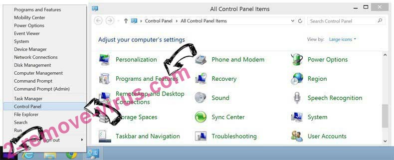 Delete Free-converterz.com Redirect from Windows 8