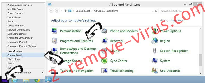 Delete Topcontent.icu from Windows 8