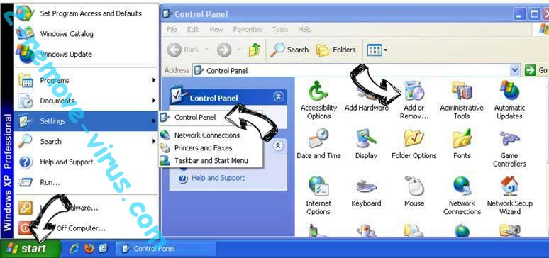 Remove Ctcodeinfo.com from Windows XP