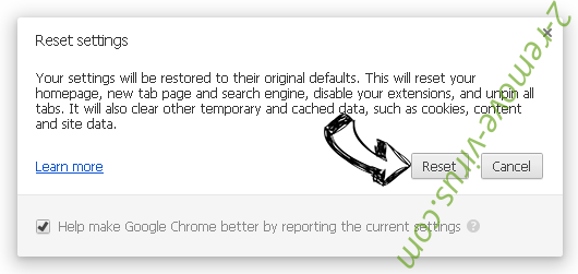 Initial Page 123 Chrome reset