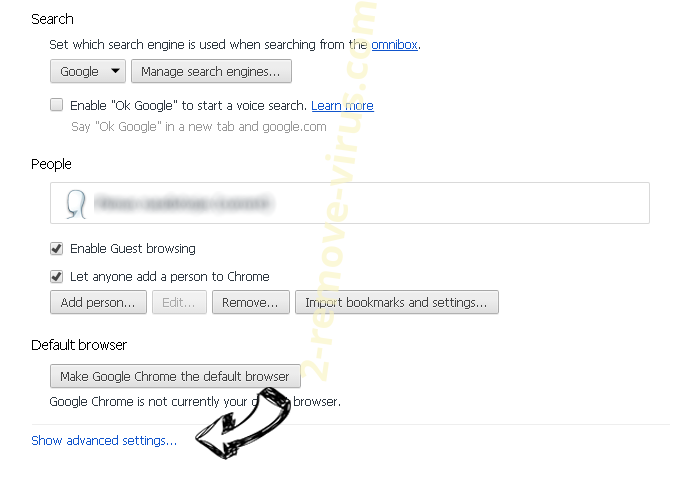 search.snapdo.com Chrome settings more