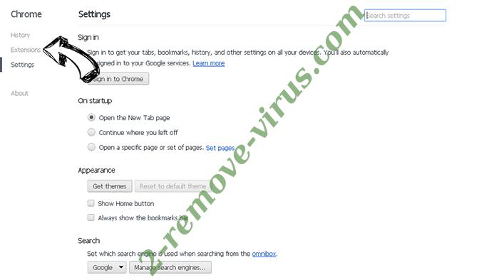 search.snapdo.com Chrome settings