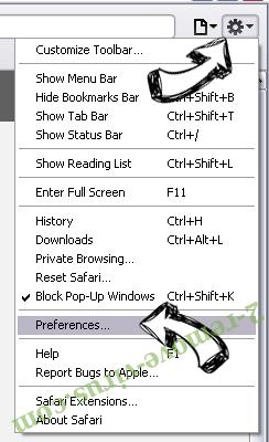 search.snapdo.com Safari menu
