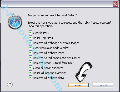 MyScrapNook Toolbar Safari reset
