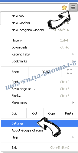 Search.searcheasysta.com Chrome menu