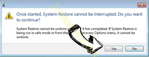 Jack Ransomware removal - restore message