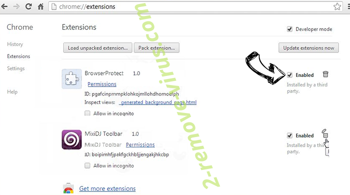 Bestlucky.site Chrome extensions disable
