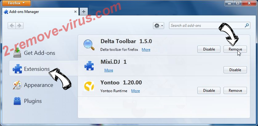 IObitCom Toolbar Firefox extensions