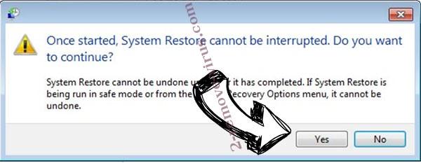 Bomba ransomware removal - restore message
