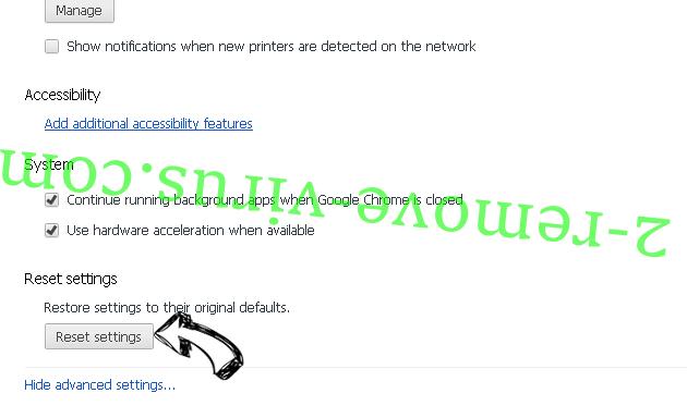 QuericsSearch Chrome advanced menu