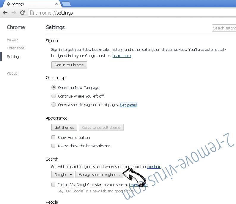 QuericsSearch Chrome extensions disable