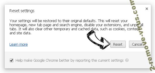 QuericsSearch Chrome reset