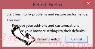 QuericsSearch Firefox reset confirm