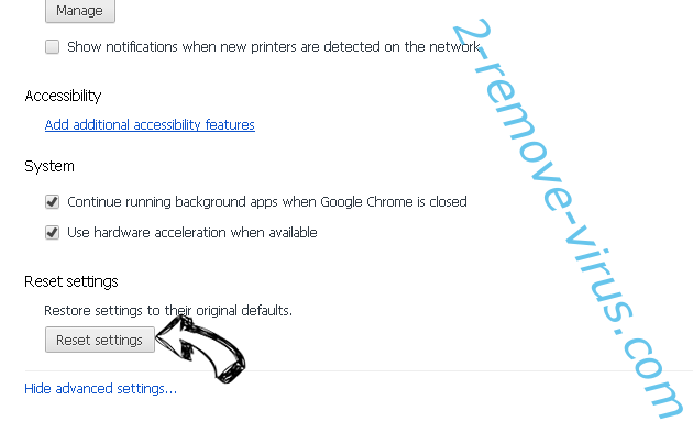 Search.clarobuscar.com Chrome advanced menu