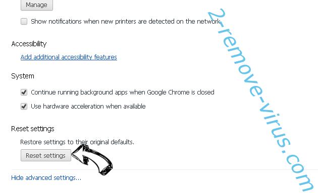 Hmysearchassistance.com Chrome advanced menu