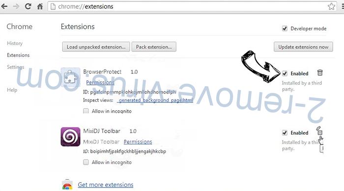 Search.clarobuscar.com Chrome extensions disable